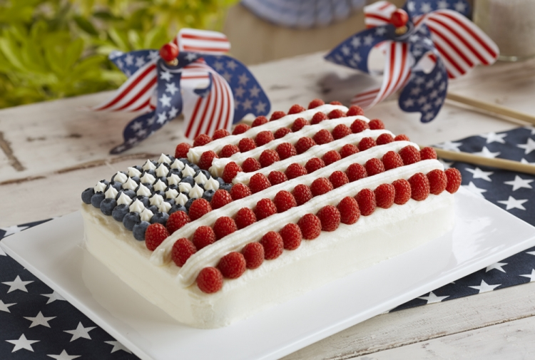 All-American Berry Flag Cake