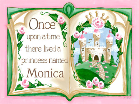 Fairy Tale Personalized Once Upon a Time Canvas Artwork