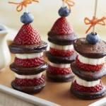 Blueberry-Strawberry Pancake Skewers