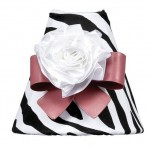 Zebra Print Nightlight with Dark Pink Bow Magnet & White Ribbon Rose Magnet