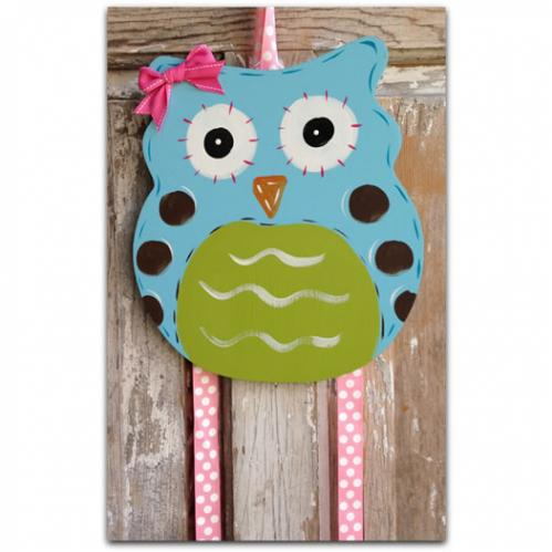 Blue Owl Hairbow & Barrette Holder