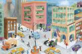 Kids' City Mural (Watercolor Journey)