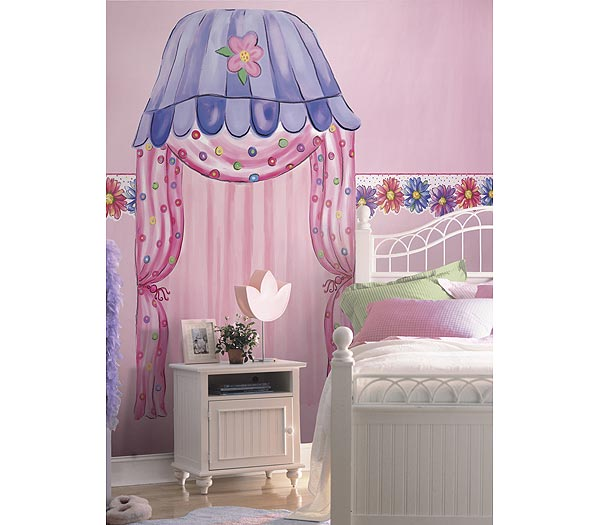 Groovy Town Canopy Accent Mural Pink Thumbnail 1