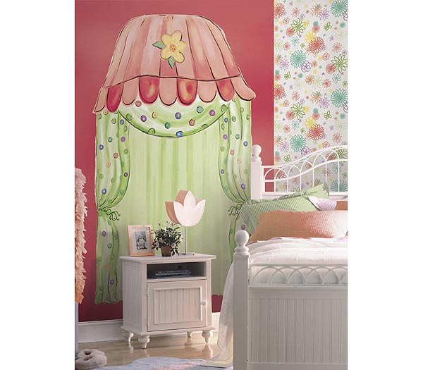 Groovy Town Canopy Accent Mural Citrus Thumbnail 1