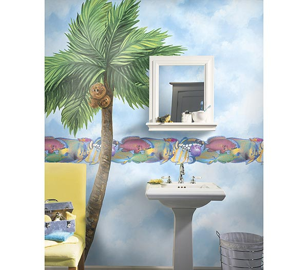Palm Tree Accent Mural Thumbnail 1