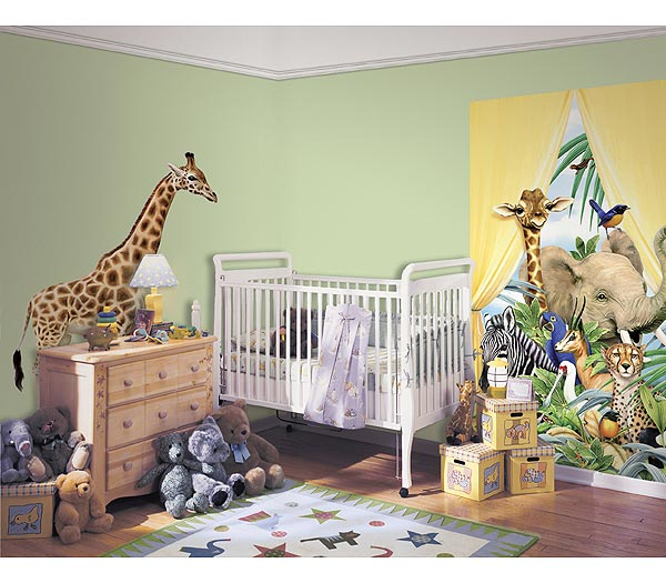 Jungle Animals - Giraffe Accent Mural Thumbnail 1