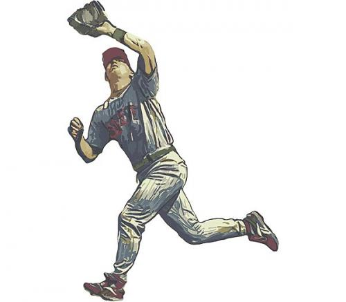 Baseball - Fielder Accent Mural