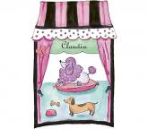 French Poodle Window Accent Mural