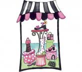 Shoe Department Window Accent Mural Pink/Black