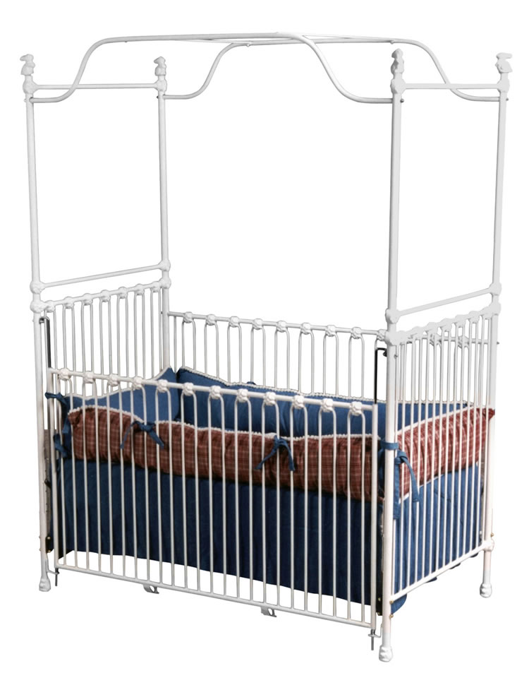 Classic white canopy crib for White canopy crib