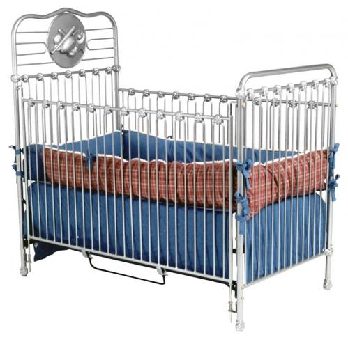 Iron Sports Crib in Silver
