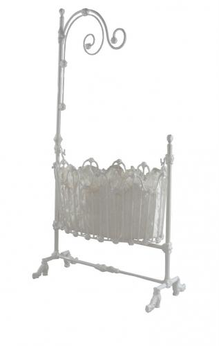 Scroll Iron Cradle with Canopy
