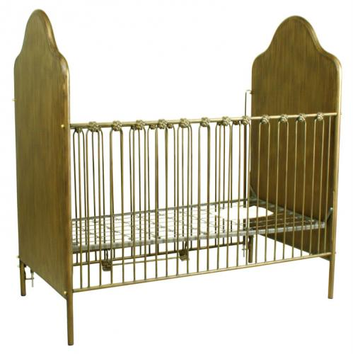 Golden Opulence Iron Crib