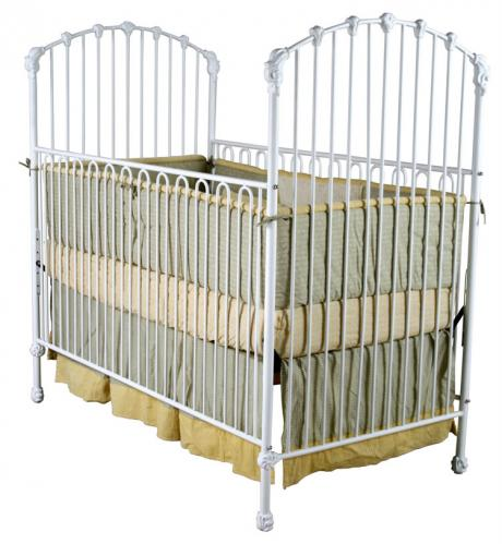 Classic Iron Crib with Arched Ends