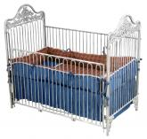 Iron Garden Crib in White