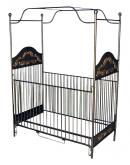 Black & Gold Iron Canopy Crib