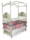 Hand Painted Iron Canopy Crib