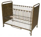 Gold Beauty Iron Crib