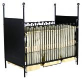 Four Poster Iron Panel Crib
