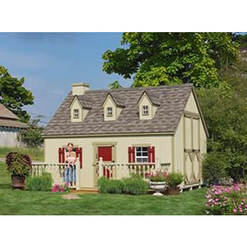 Cozy Cottage Playhouse 10' x 12' Thumbnail 1