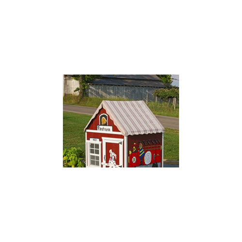 The Sugar and Spice 4' x 4' Wooden Playhouse Thumbnail 4
