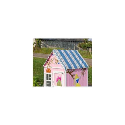The Sugar and Spice 4' x 4' Wooden Playhouse Thumbnail 6