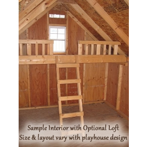 Cozy Cottage Playhouse 10' x 12' Thumbnail 3