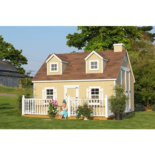 Cozy Cottage Playhouse 10' x 12' Thumbnail