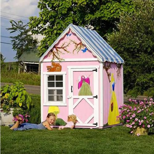 The Sugar and Spice 4' x 4' Wooden Playhouse Thumbnail