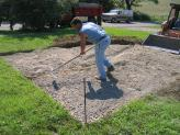 Preparing Ground for Playhouse - Adding Crushed Stone
