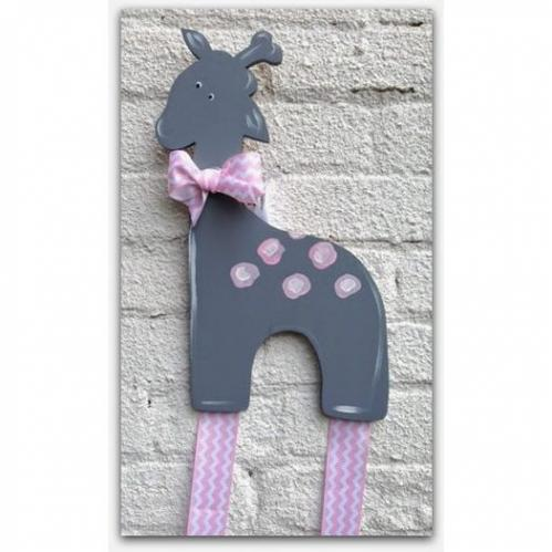 Grey Giraffe Hairbow & Barrette Holder
