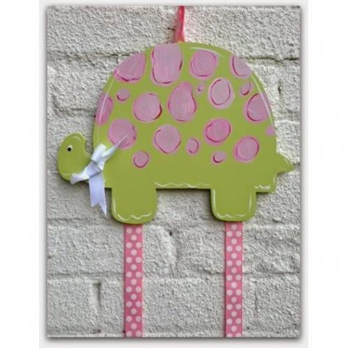 Green Turtle Hairbow & Barrette Holder