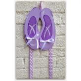 Purple Ballet Slipper Hairbow & Barrette Holder