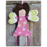 Brunette Fairy Hairbow & Barrette Holder