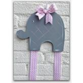 Grey Elephant Hairbow & Barrette Holder