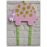 Pink Turtle Hairbow & Barrette Holder