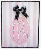 Monogram Canvas, Pink & Black
