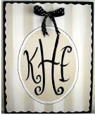 Monogram Canvas, Black & Creme