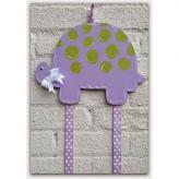 Purple Turtle Hairbow & Barrette Holder
