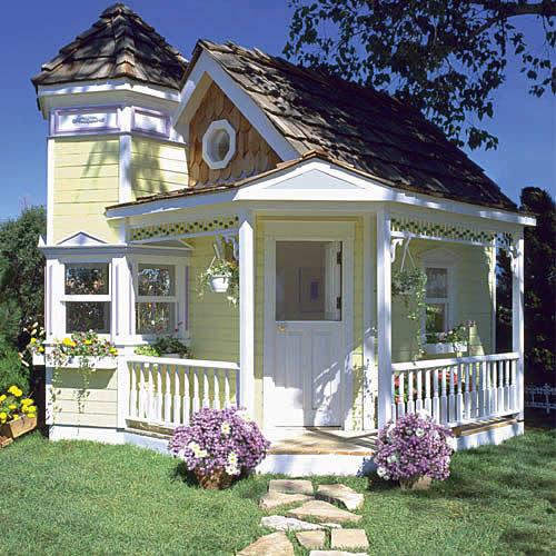 Victorian luxury playhouse for Custom victorian homes