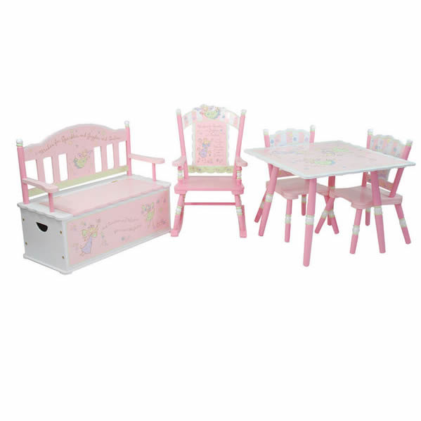 Pink Fairy Wishes Bench Seat With Storage Toy Box Seating: Fairy Wishes Rocking Chair By Levels Of Discovery