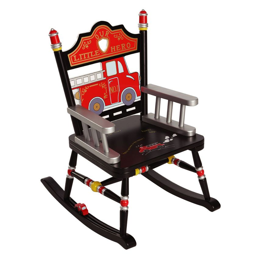 Vintage child rocking chair - Firefighter Child S Rocking Chair By Levels Of Discovery Main