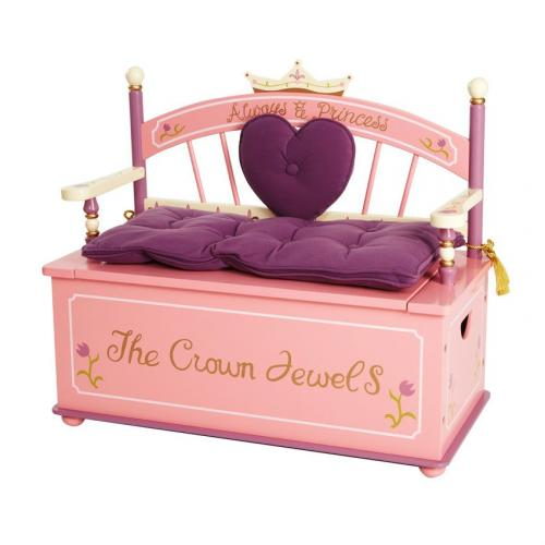 Princess Toy Box Bench by Levels of Discovery Thumbnail