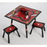 Firefighter Table & 2 Stool Set by Levels of Discovery