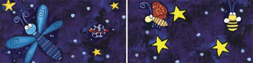 Night of Dreams Bath Tile Border