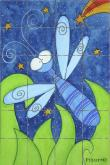 Dragonfly Bath Tile Wall Mural