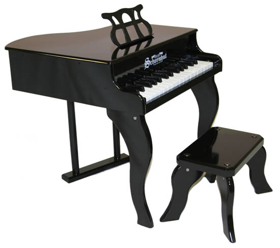 Fancy baby grand piano for kids black for Smallest baby grand piano dimensions