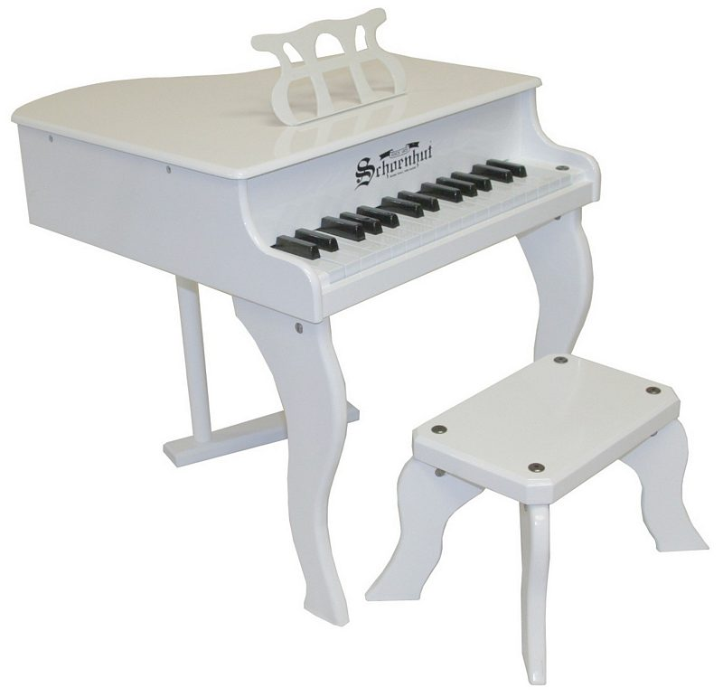 Fancy Baby Grand Piano For Kids White