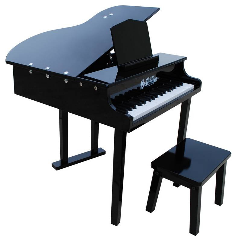 Concert Grand Piano For Kids Black
