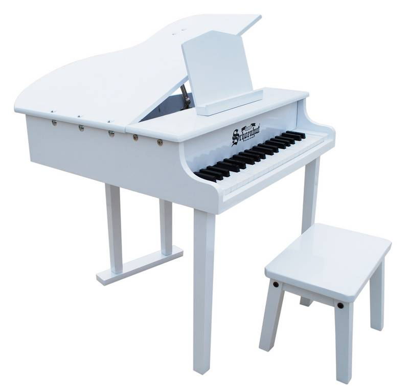 Concert Grand Piano for Kids, White